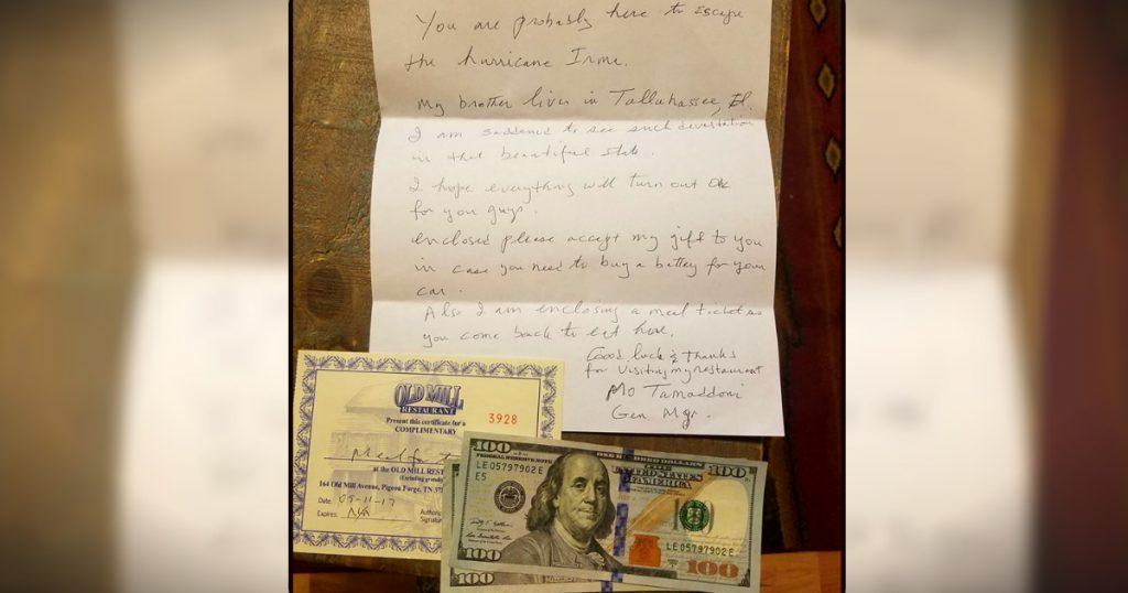 godupdates stranger's act of kindness for couple fleeing hurricane irma fb