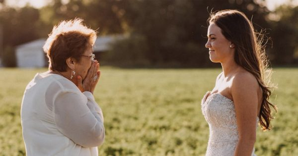 The Heartbreaking Reason This Bride's 'First Look' Isn't With The Groom