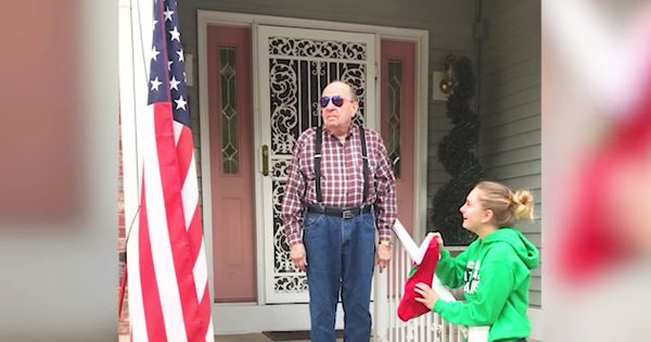 Veteran Finally Sees The Flag In Full Color