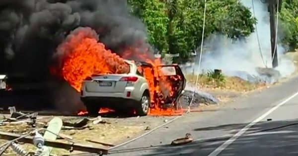Grandma Drags 17-Month-Old From Crash, Then Car Bursts Into Flames Seconds Later