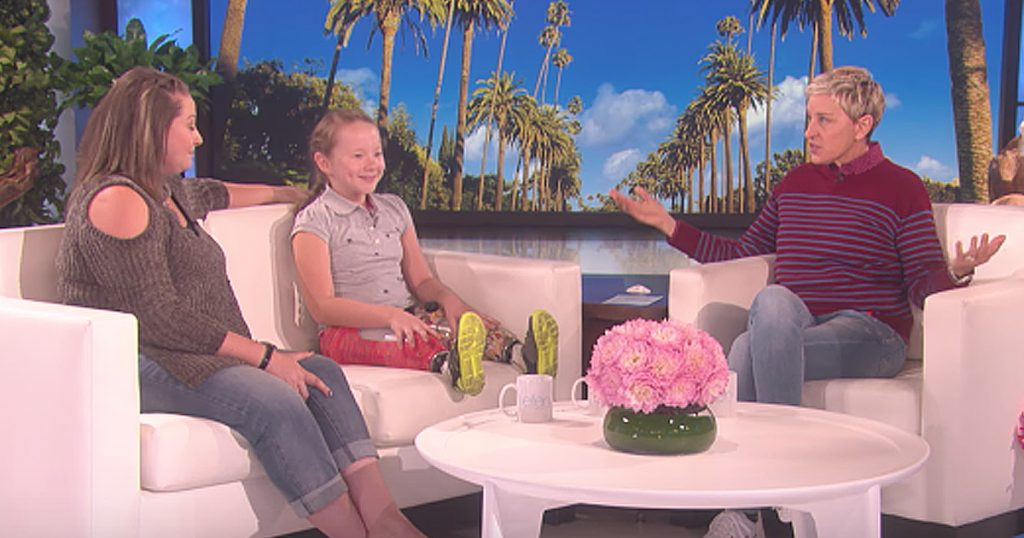 Ellen Surprises 9-Year-Old Double Amputee Lilly Biagini After Wildfire