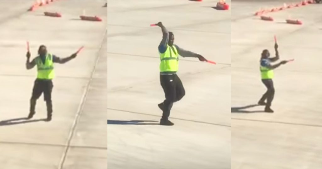 Airport Employee Kyran Ashford Dances On Tarmac Goes Viral