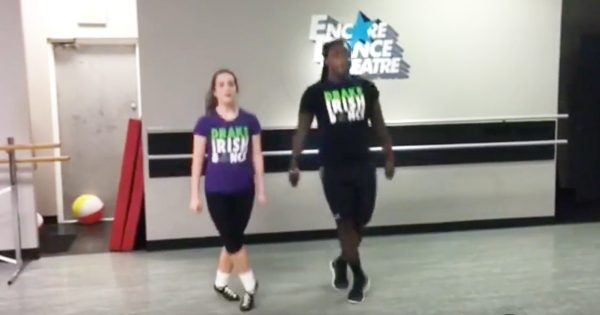 NFL Football Player Alex Collins Talks Irish Dancing