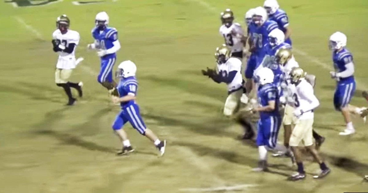 High School Football Players Help Student With Cerebral Palsy Score Touchdown