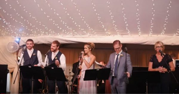 Family Welcomes New Son-In-Law With A Musical Disney Toast