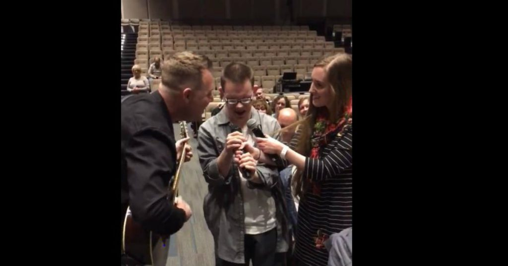 godupdates christian singer sings with boy who has down syndrome