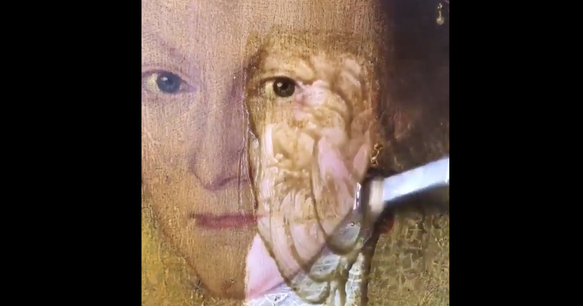 400-Year-Old Painting Gets Restored