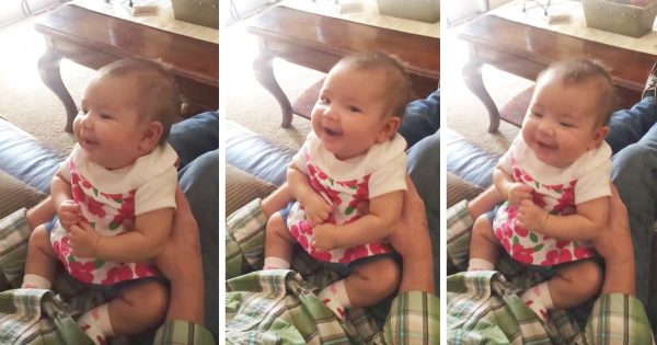 Baby Laughs At Dad's Serious Talk About Dating Boys