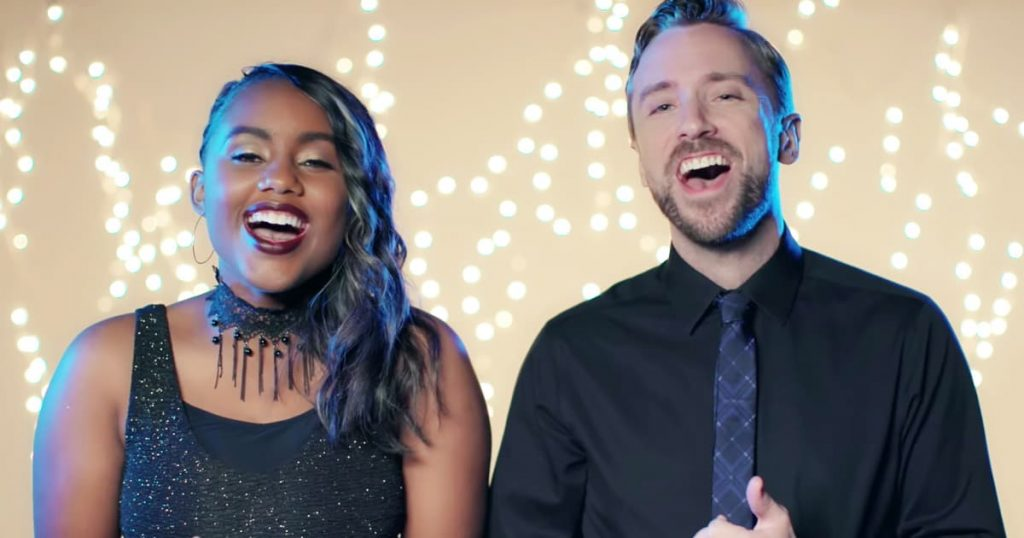 Christian Music Artist's Jamie Grace And Peter Hollens O Holy Night_GodUpdates