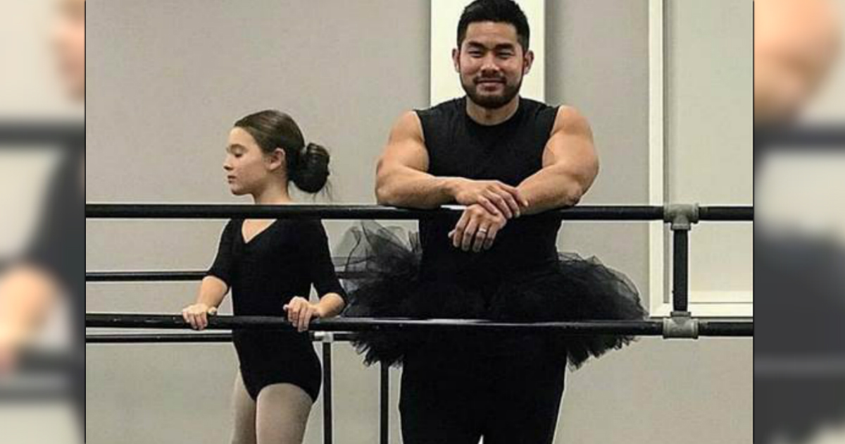godupdates devoted dad donned a tutu to daughters ballet class fb