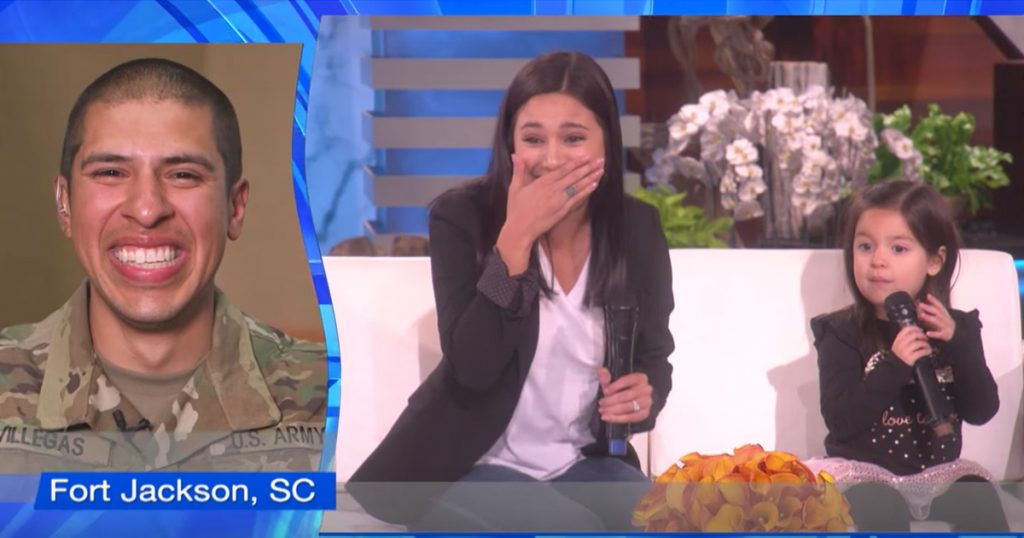 Ellen Surprises Military Mom and Daughter