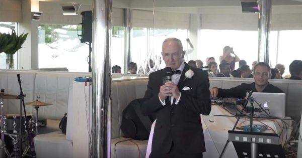 Father's Musical Toast At His Daughter's Wedding