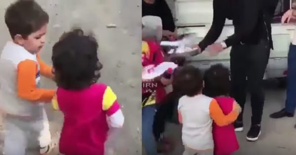 Young Girl Was Passed By And Hungry Until Young Boy Took A Stand
