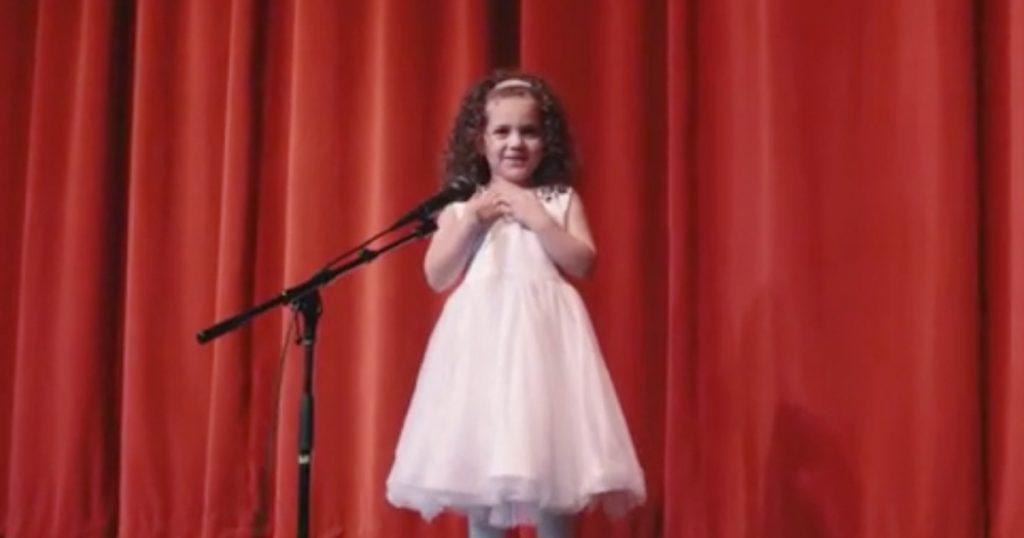 4-year-old Sophie Fatu Sings Frank Sinatra Classic 'My Way'