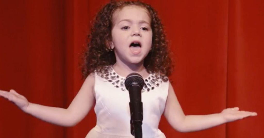 4-year-old Sophie Fatu Sings Frank Sinatra Classic 'My Way'