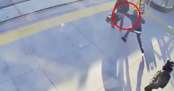 Stranger Heroically Saves Blind Man From Getting Hit By A Train