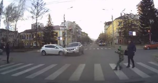 Pedestrians Almost Got Hit and It Was Caught on Camera