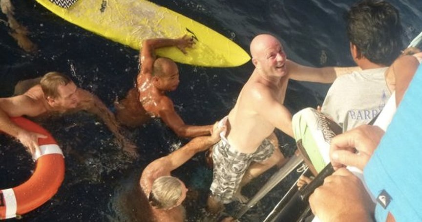 Man Lost At Sea, Treading Water For 28+ Hours, Then He Saw A Cross _ brett archibald _ godupdates