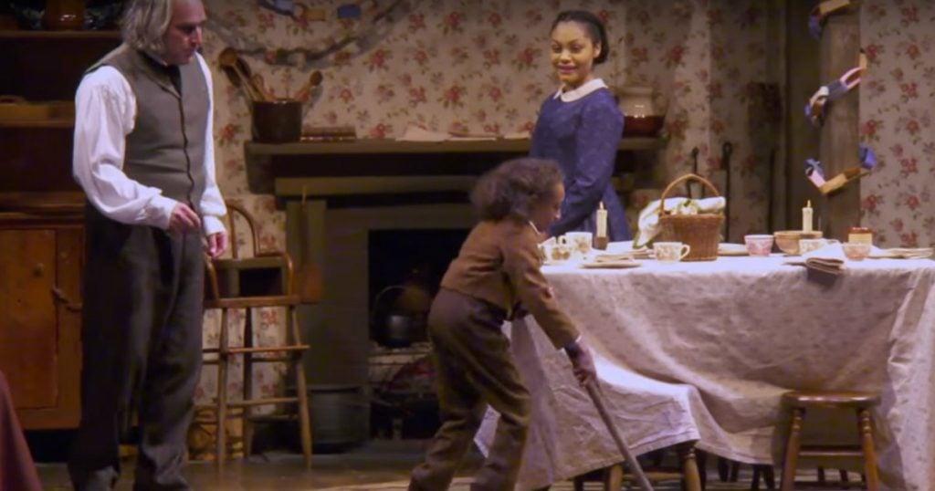 Godupdates little girl plays tiny tim