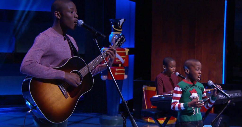 Melisizwe Brothers Perform 'O holy Night' On the Steve Harvey Show