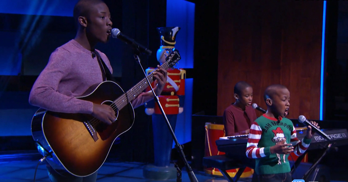 Melisizwe Brothers Perform 'O holy Night' On the Steve Harvey Show