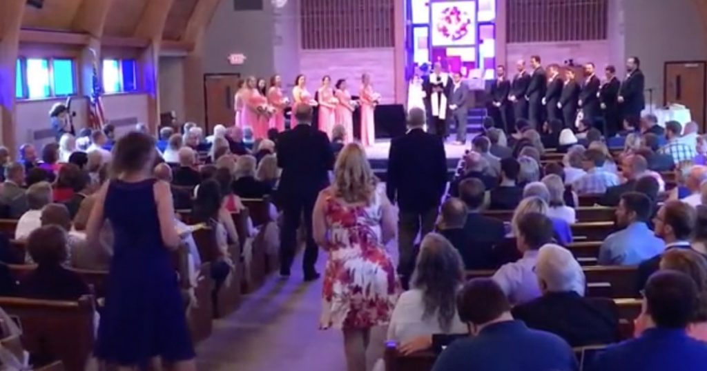 Unexpected 'Amazing Grace' Wedding Flash Mob For Bride
