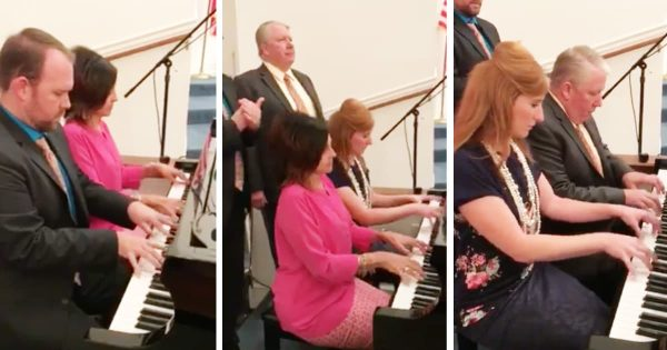 Church Pianists Perform Beautiful Impromptu Hymn Medley