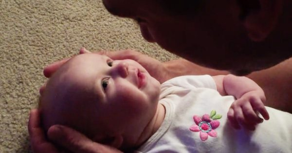 Baby Girl Smiles As Her Dad Sings To Her