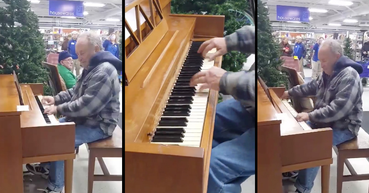 Man Wows With Surprise Piano Performance At Goodwill