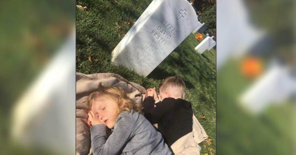 godupdates two sons visited their father's grave viral photos 3