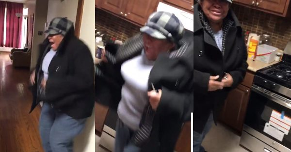 Man Surprises His Grandma With A New Stove And She Has The Best Reaction