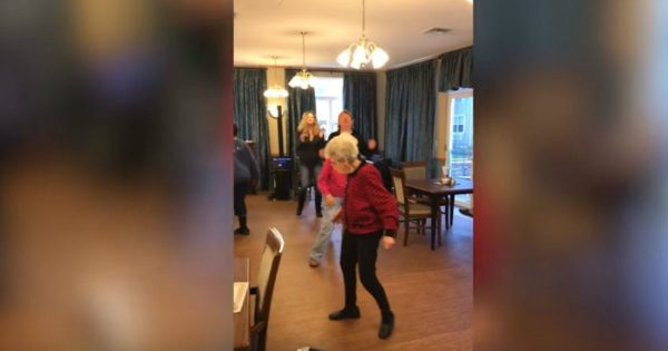 Groovin' Granny Steals The Show With Her Own Dance Moves At A Birthday Party