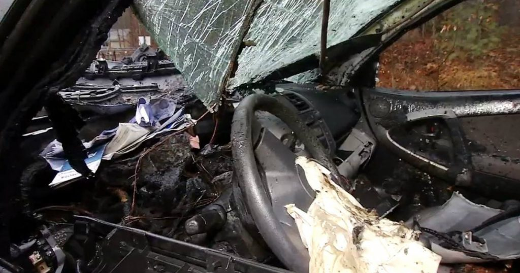 godupdates woman saved from burning car