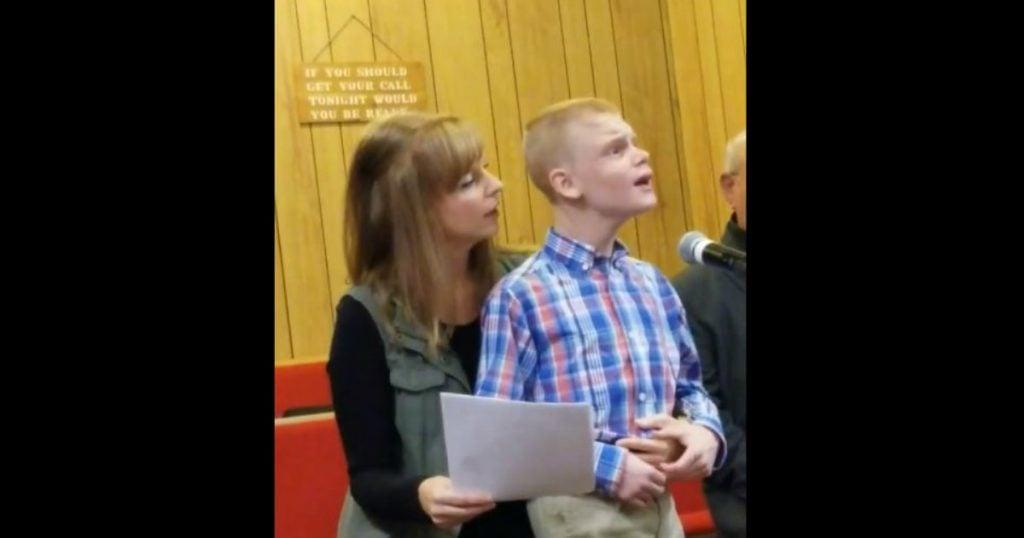 godupdates young man sings