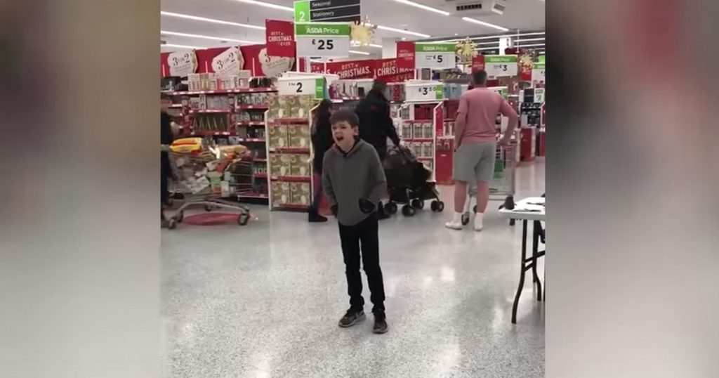 10-year-old With Autism Calum Sings In The Grocery Store