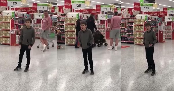10-Year-Old With Autism Belts Out Classic Song In The Middle Of Grocery Store