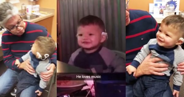 Baby Is Overcome With Happiness When He Hears Music For The First Time