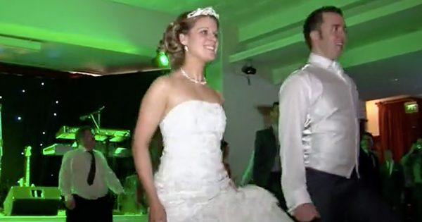 Bride And Groom Performs A Surprise Riverdance At Their Wedding