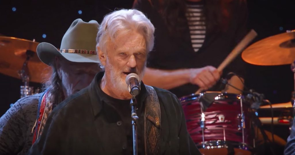 Country Artists Kris Kristofferson Reba Lee Ann Womack Willie Nelson Sing 'Why Me Lord'