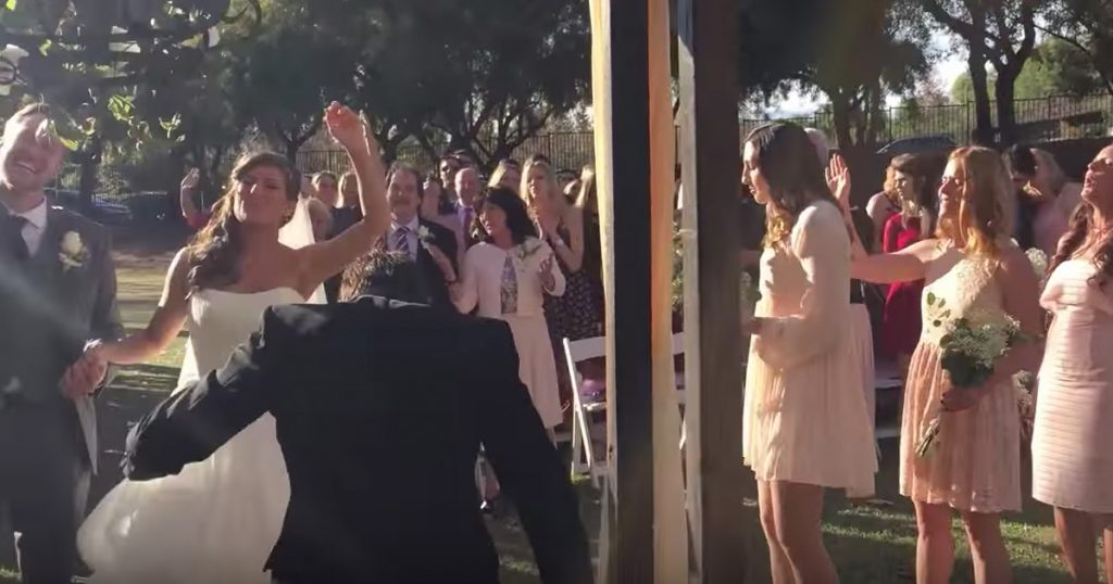 Wedding Stops For Worship To 'Great Are You Lord'