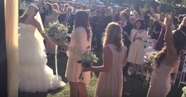 Couple Stops Their Wedding To Worship