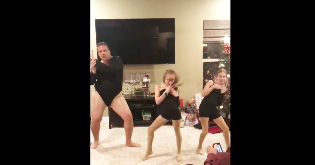 Dad's Hilarious Leotard Dance Routine Is Going Viral