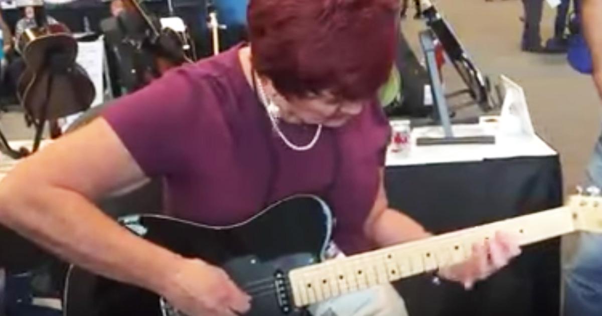 Granny Guitarist Paula Jo Taylor Goes Viral With Guitar Riff