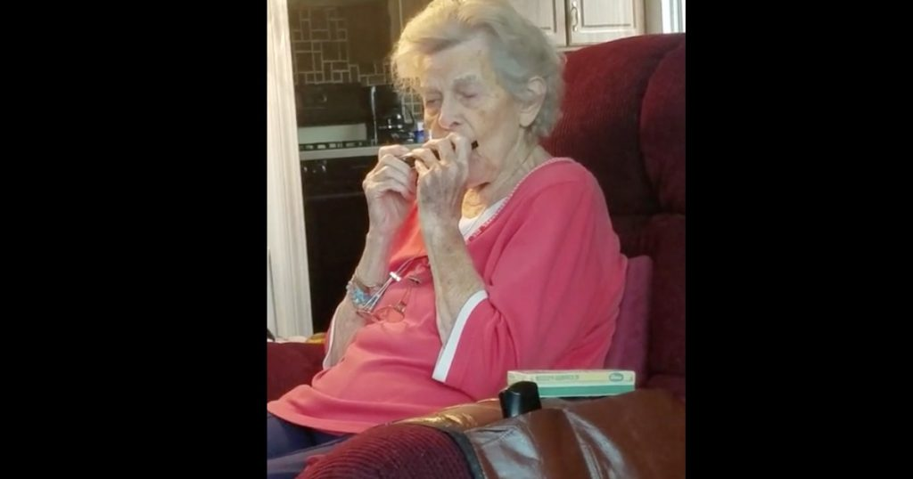 Grandma With Alzheimer's Yodels and Plays The Harmonica