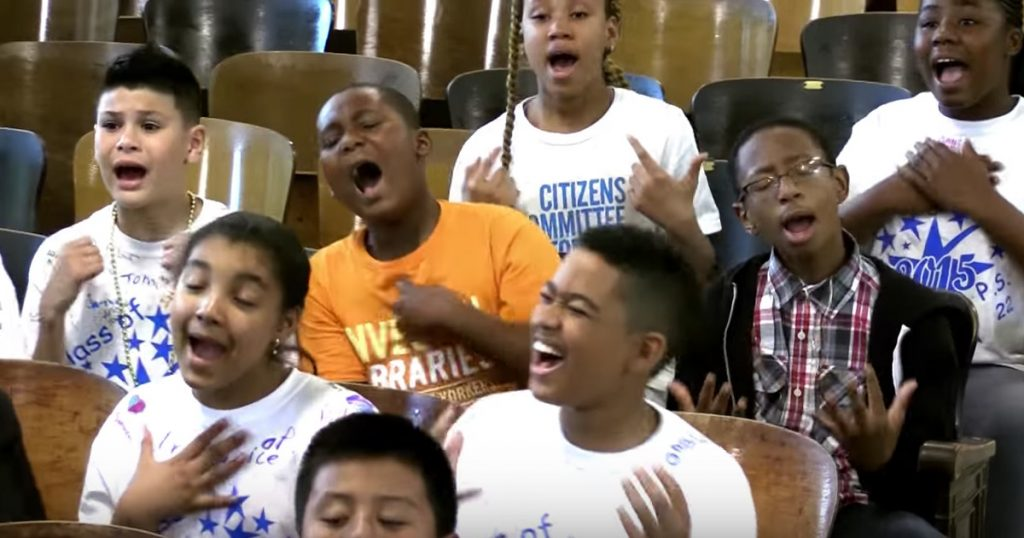 PS22 Choir sings 'I'm Gonna Love You Through It' for teacher battling cancer