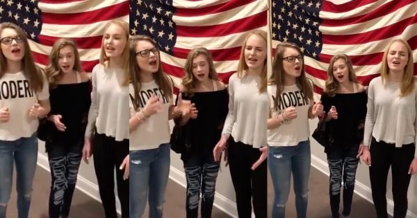 Teen Trio Sings An Incredible A Cappella Version Of The 'National Anthem'