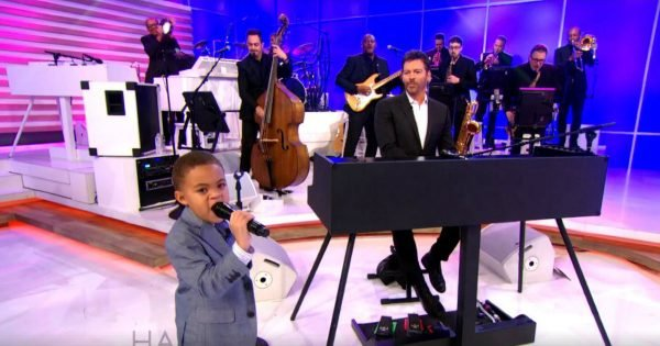 5-Year-Old Little Boy Sings A Classic Hymn And Wows The Audience