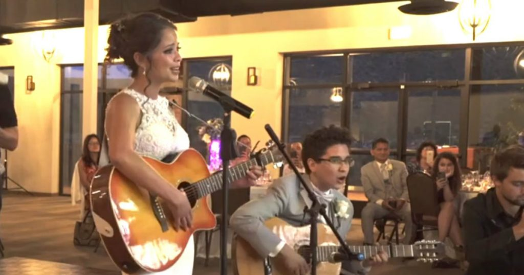 godupdates bride sings to groom