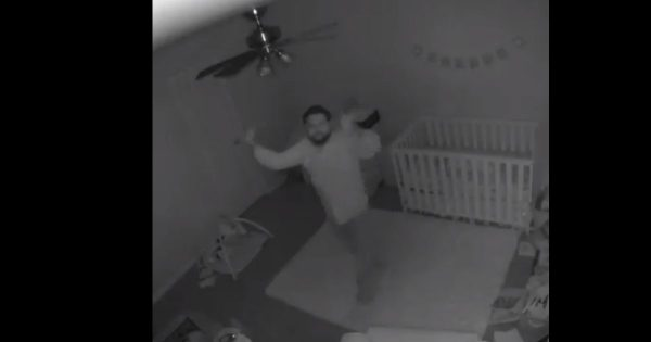 Daddy Hilariously Celebrates Putting The Baby To Sleep