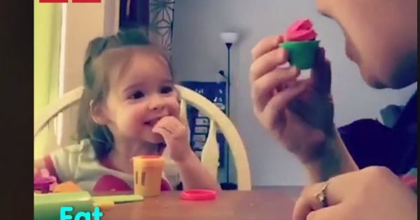 Mommy Plays An Adorable Switch-A-Roo On Her Deaf 2-Year-Old Daughter